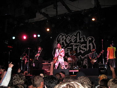 Reel Big Fish performing in 2008 Reel Big Fish live in Santa Cruz.jpg
