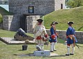 Reenactors demonstrating firing of a mortar (12) (22296857446).jpg