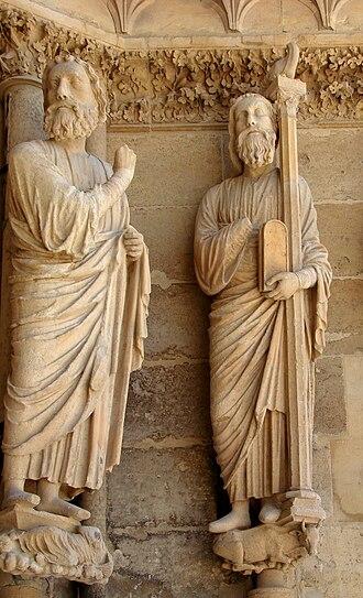 Tablets of Stone - Image: Reims Façade Portail de droite 40808 2