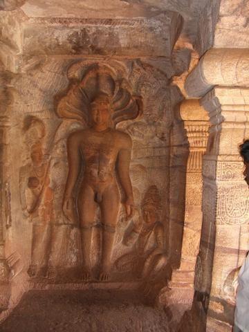 Relief of Jain Tirthankara Parshvanath in the Badami cave temple no.4