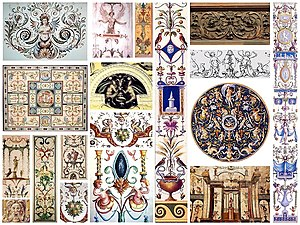 Grotesque - Renaissance grotesque motifs in assorted formats.