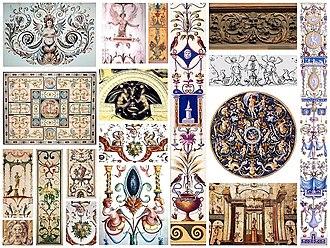 Grotesque - Renaissance grotesque motifs in assorted formats.