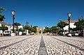 República Square with the town's castle on the background, Vila Viçosa, Portugal (PPL3-Altered) julesvernex2.jpg