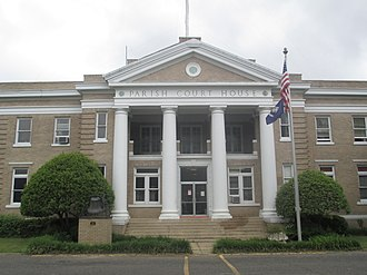 West Carroll Parish, Louisiana - Image: Revised photo, West Carroll Parish, LA, Courthouse IMG 7368