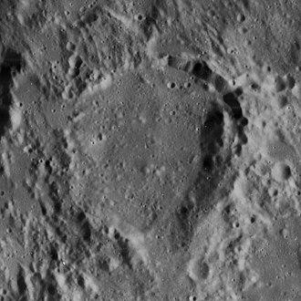 Rhaeticus (crater) - Image: Rhaeticus crater 4101 h 3