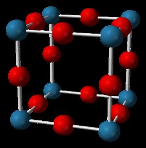 Sodium nitride - Image: Rhenium trioxide unit cell 3D balls A