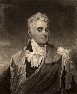 Richard Griffin, 2nd Baron Braybrooke - Richard Griffin, 2nd Baron Braybrooke, 1810 engraving