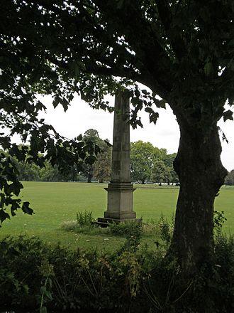 Old Deer Park - Image: Richmond Deer Park Obelisk