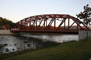 Riparius Bridge - South view from the eastern shore