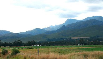 Riviersonderend Mountains - Riviersonderend Mountains from the N2 highway near the town of Riviersonderend