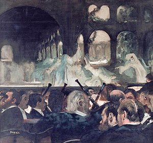 Grand opera - Degas (1876): Ballet of the Nuns from Meyerbeer's Robert le diable (1831); one of the earliest sensations of grand opera
