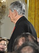 Robert Brustein is the first of the honorees to enter the East Room. (5492100421) (cropped).jpg