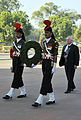 Robert Gates walks with the Indian Honor Guard to the India Gate Memorial.jpg