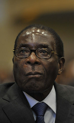English: Robert Mugabe in 2009.