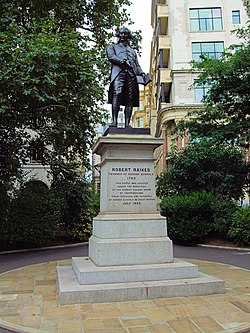 Robert Raikes Statue, Victoria Embankment Gardens   London