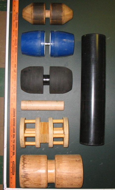 Rollers of 7 balance boards