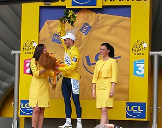2008 Tour de France - Romain Feillu was the only French cyclist to wear the yellow jersey in the 2008 Tour de France; he wore it for one day after stage 3.