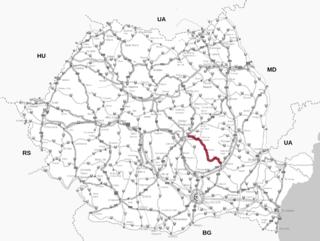 DN10 road in Romania