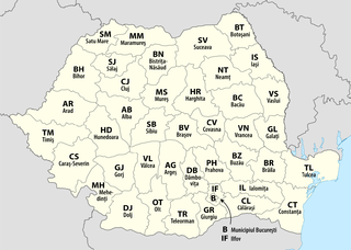 Counties of Romania Wikimedia list article