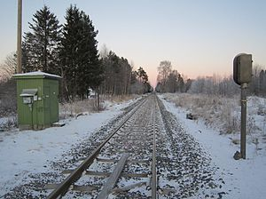 Røros Line - The site of the now closed Roset Station