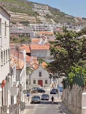 Sesimbra - Image: Rua Almirante Sande Vasconcelos