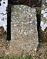 Rudimentary gravestone, St James's Church, Chawleigh - geograph.org.uk - 1278232.jpg