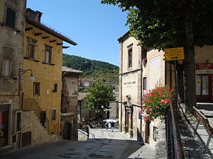 Street in Scanno. The House Henri Cartier-Bres...