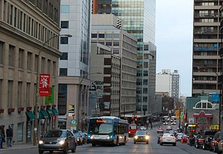 Guy Street thoroughfare in Montreal, Canada