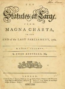 Ruffhead - The Statutes at Large, 1763.djvu