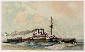 Russian Fleet (1892) il. 07 Chesma - Restoration, cropped.jpg