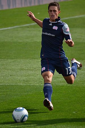Ryan Guy - Guy in action for New England Revolution in 2011.
