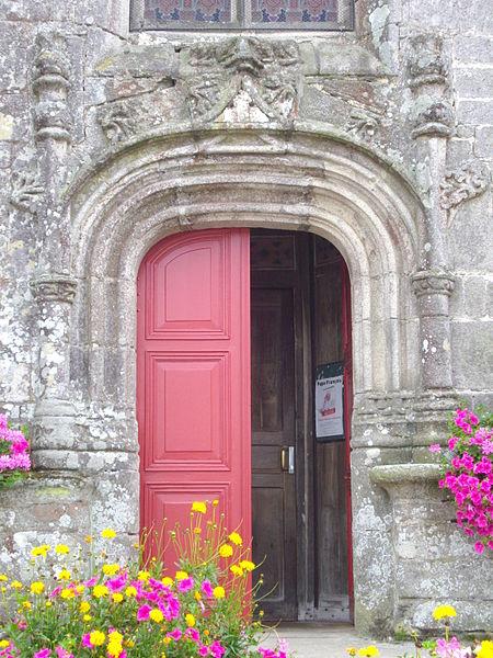 Saint Peter church of Sérent (Morbihan, France). Door of the northern porch