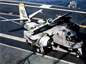 S-2E VS-25 on USS Yorktown (CVS-10) 1966.jpg