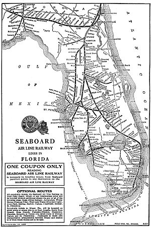 Florida Railroad Map.Seaboard Air Line Railroad Wikipedia