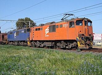 South African Class 6E - Image: SAR Class 6E E1221