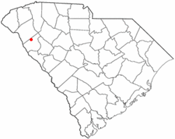 Location of Antreville, South Carolina