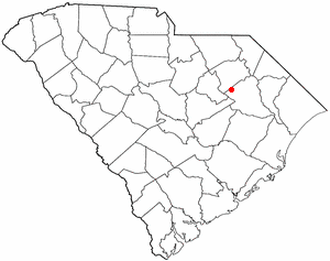 Timmonsville, South Carolina - Image: SC Map doton Timmonsville