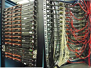 SDF Public Access Unix System - The heart of SDF with a few spares. This also includes the diaspora pod, the Plan9 cluster and the bifrost cluster. (tour 2012)