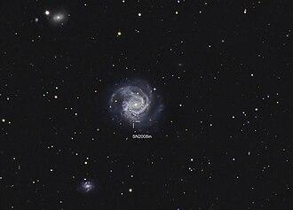 Messier 61 - Image: SN2008in Hunter Wilson