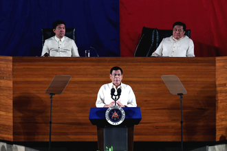 Aquilino Pimentel III - Pimentel (top left) during President Rodrigo Duterte's 2016 State of the Nation Address.