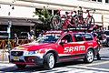 SRAM Neutral Service car in Modesto at the start of Stage 2 (35038956225).jpg