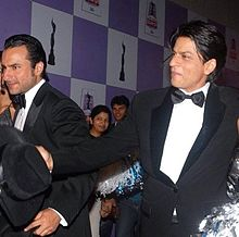 Shah Rukh and Saif posing