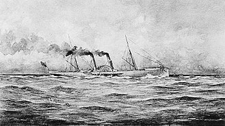 Union blockade - The Confederate blockade runner SS Banshee in 1863