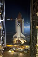 STS-134 Endeavour Rollout 1