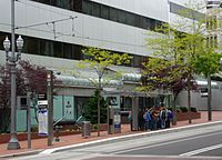 SW 6th and Madison MAX station - Portland, Oregon.JPG