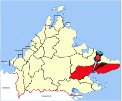 Location of Lahad Datu Town