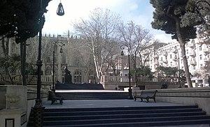 Mirza Alakbar Sabir Garden - Image: Sabir Garden Winter