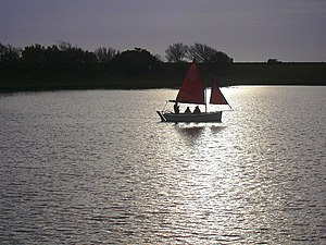 English: Sail Boat Fairhaven Lake