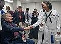 Sailor meets President George H.W. Bush during a military appreciation at Texas A&M University. (31026175115).jpg