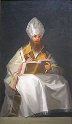 Saint Ambrose by Francisco de Goya, c. 1796-99, Cleveland Museum of Art.JPG